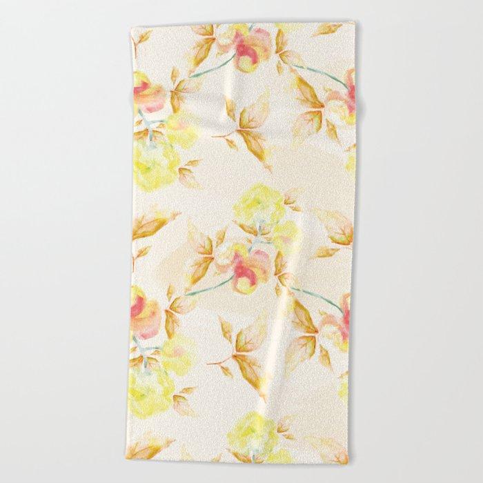 Delicate Floral Pattern 06 Beach Towel