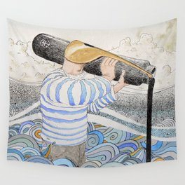 L'ancre en point d'attache. Wall Tapestry