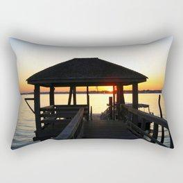 Norwalk, Sheffield Island, Sunset, Connecticut Rectangular Pillow