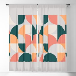 Mid Century Geometric 17 Blackout Curtain