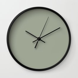 Sage x Simple Color Wall Clock