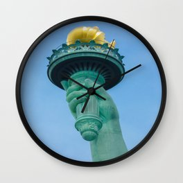 Torch in the right hand of Lady Liberty - New York City Wall Clock