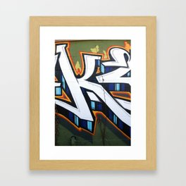Graffiti in East Austin Framed Art Print
