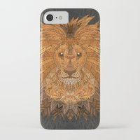 lion king iPhone & iPod Cases featuring King Lion by ArtLovePassion
