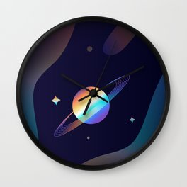 Holographic Galaxy Wall Clock