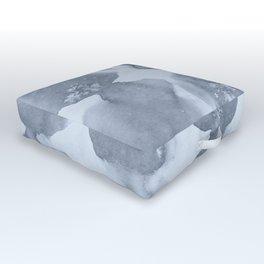 Shibori Wabi Sabi Indigo Blue on Sky Blue Outdoor Floor Cushion