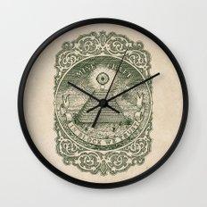 In Block We Trust (Green) Wall Clock