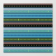 Together Again - tribal geometrics Canvas Print