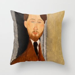 "Amedeo Modigliani ""Portrait of Léopold Zborowski"" Throw Pillow"