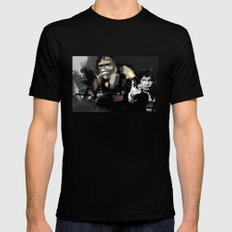 Han Solo & Chewbacca MEDIUM Mens Fitted Tee Black