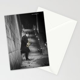 The golden saxophone player Stationery Cards