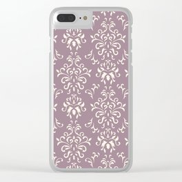Decorative Pattern in Light Magenta and Cream Clear iPhone Case