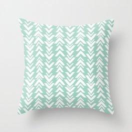 tribal arrows triangle print blue Throw Pillow