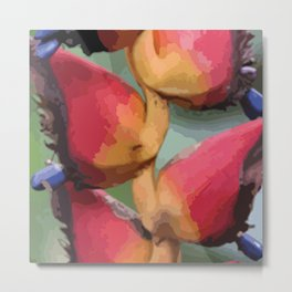 Helliconia Flower CR Illustration Metal Print