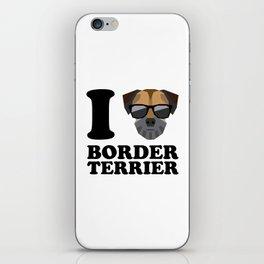 I Love Border Terrier modern v1 iPhone Skin