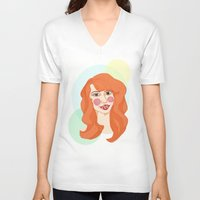 ginger V-neck T-shirts featuring ginger by bexchalloner