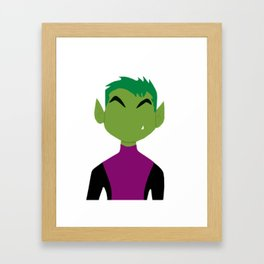Teen Titans Beast Boy Portrait Framed Art Print