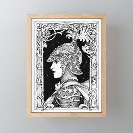 Ink Knight Maiden Framed Mini Art Print