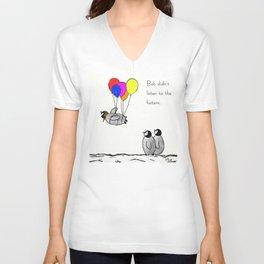 To be a Flying Penguin Unisex V-Ausschnitt