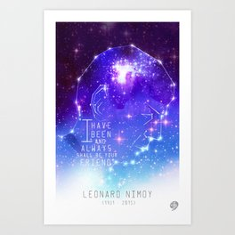 Always your friend, Spock Art Print