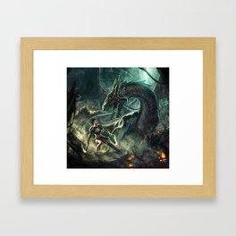 Face a Dragon Framed Art Print