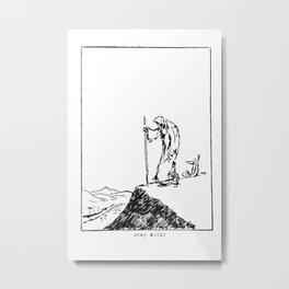 Moses scribble art Metal Print