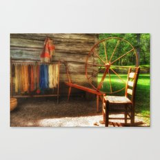 Yarnwork at the Mabry Mill Canvas Print