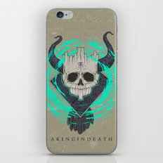 A KING IN DEATH iPhone & iPod Skin