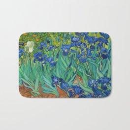 Irises by Vincent van Gogh (May 1889) Bath Mat