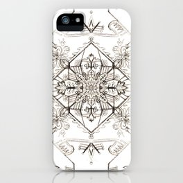 Pencil Pattern iPhone Case