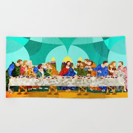 Curves - Last Supper Beach Towel