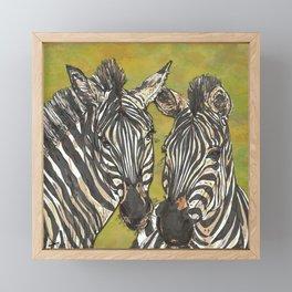Zebras Framed Mini Art Print
