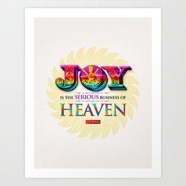 Serious Joy Art Print