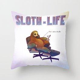 SLOTH LIFE fig. 1. Throw Pillow