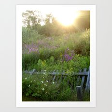 August coming undone Art Print