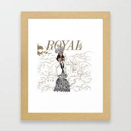 Kayla Royal Framed Art Print