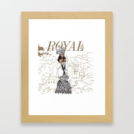 Kayla Royal Framed Art Print