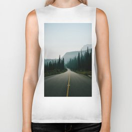 Road trip to the mountains Biker Tank