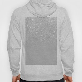 Trendy modern silver ombre grey color block Hoody
