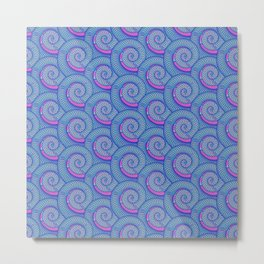 Sea spiral pattern Metal Print