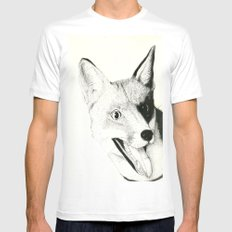 The Fox Mens Fitted Tee White MEDIUM