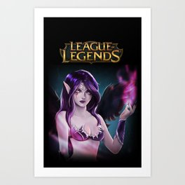 league of legends morgana Art Print