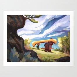 Portage Art Print