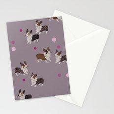 pink dot corgis Stationery Cards