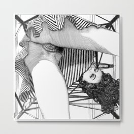 asc 768 - La baronne perchée (The girl who was not afraid of heights) Metal Print