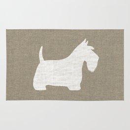 White Scottish Terrier Silhouette Rug