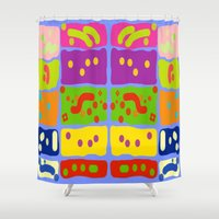 matisse Shower Curtains featuring Palettes of Matisse by Zoya Kraus
