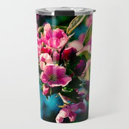 Pink Crab Apple Flowers Travel Mug
