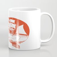 moby dick Mugs featuring Moby Dick by Paul McCreery