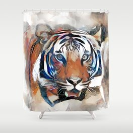 Tiger, the God of the Mountain Shower Curtain